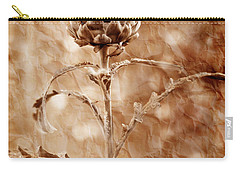 Artichoke Bloom Carry-all Pouch by La Rae  Roberts