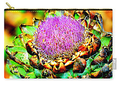 Artichoke Going To Seed  Carry-all Pouch by Antonia Citrino