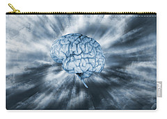 Carry-all Pouch featuring the photograph Artificial Intelligence With Human Brain by Christian Lagereek