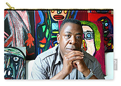 Artist Darrell Urban Black Surrounded By His Artwork  Carry-all Pouch