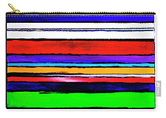 Artist Stripes By Lisa Kaiser Carry-all Pouch