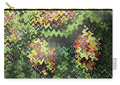 Carry-all Pouch featuring the painting Artistic Digital Fineart Graphic Waves From Veggie Green Salad Christmas Birthday Holidays Mom Dad  by Navin Joshi