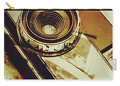 Artistic Double Exposure Of A Vintage Photo Tour Carry-all Pouch