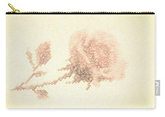 Artistic Etched Rose Carry-all Pouch
