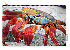Artistic Nature Red And Blue Rainbow Crab 908 Carry-all Pouch