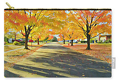 Carry-all Pouch featuring the photograph Artistic Tulsa Street by Robert Knight