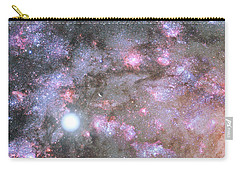 Carry-all Pouch featuring the digital art Artist's View Of A Dense Galaxy Core Forming by Nasa