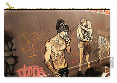 Artsy Love Scenes On New York Truck Carry-all Pouch