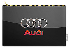 Audi - 3 D Badge On Black Carry-all Pouch