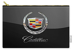 Cadillac - 3d Badge On Black Carry-all Pouch