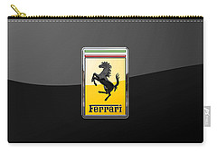Ferrari - 3 D Badge On Black Carry-all Pouch