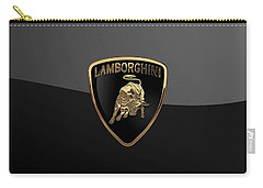 Lamborghini - 3d Badge On Black Carry-all Pouch