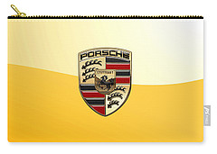 Porsche - 3d Badge On Yellow Carry-all Pouch