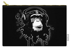 Monkey Business - Black Carry-all Pouch by Nicklas Gustafsson