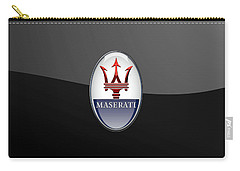 Maserati - 3d Badge On Black Carry-all Pouch