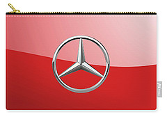 Mercedes-benz - 3d Badge On Red Carry-all Pouch