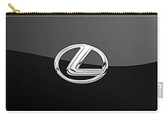 Lexus - 3d Badge On Black Carry-all Pouch