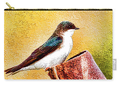 Carry-all Pouch featuring the photograph Male Tree Swallow No. 2 by Bill Kesler