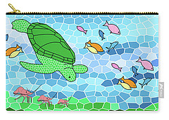 Turtle And Friends Carry-all Pouch by Methune Hively