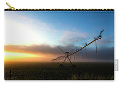 Carry-all Pouch featuring the photograph Sunrise Sprinkler by Bill Kesler