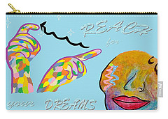American Sign Language Reach For Your Dreams Carry-all Pouch