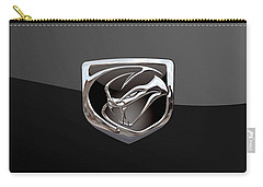 Dodge Viper - 3d Badge On Black Carry-all Pouch