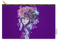 Hydrangea Carry-all Pouch