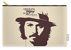 Johnny Depp Minimalist Poster Carry-all Pouch by Lab No 4 - The Quotography Department