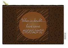 Chocolate Carry-all Pouch by Methune Hively