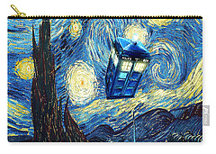 Weird Flying Phone Booth Starry The Night Carry-all Pouch