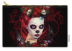 Sugar Doll Red Carry-all Pouch by Shanina Conway