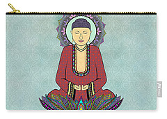 Carry-all Pouch featuring the drawing Electric Buddha by Tammy Wetzel