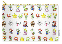 Mario Characters In Watercolor Carry-all Pouch