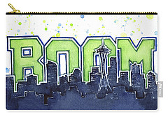 Seattle 12th Man Legion Of Boom Painting Carry-all Pouch