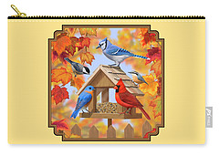 Bird Painting - Autumn Aquaintances Carry-all Pouch