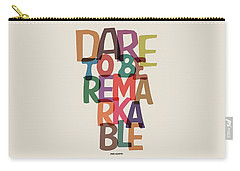 Dare To Be Jane Gentry Motivating Quotes Poster Carry-all Pouch