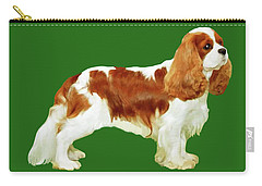 Cavalier King Charles Spaniel Carry-all Pouch by Marian Cates