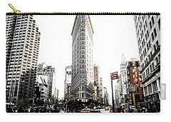 Carry-all Pouch featuring the photograph Desaturated New York by Nicklas Gustafsson