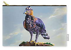 African Crowned Eagle  Carry-all Pouch by Anthony Mwangi