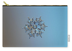 Carry-all Pouch featuring the photograph Snowflake Photo - Flying Castle by Alexey Kljatov