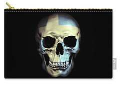 Carry-all Pouch featuring the digital art Swedish Skull by Nicklas Gustafsson