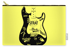 Fender Stratocaster Blackie 77 Carry-all Pouch by Mark Rogan
