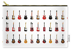 Guitar Icons No2 Carry-all Pouch by Mark Rogan