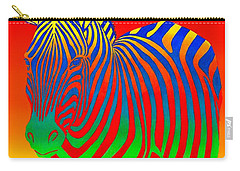 Psychedelic Rainbow Zebra Carry-all Pouch
