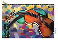 Violins Carry-all Pouch by Melanie D