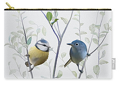 Carry-all Pouch featuring the painting Birds In Tree by Ivana