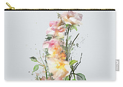 Carry-all Pouch featuring the painting Wild Roses by Ivana Westin