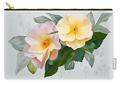 Carry-all Pouch featuring the painting Two Wild Roses by Ivana Westin