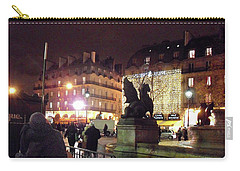 Carry-all Pouch featuring the photograph Place Saint-michel by Felipe Adan Lerma
