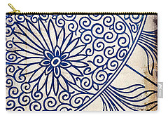Blue Oriental Vintage Tile 01 Carry-all Pouch